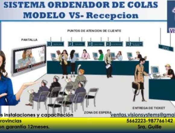 ORDENADOR DE COLAS MODELO RECEPCION A TV