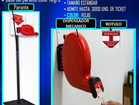 PARANTE DE METAL PARA DISPENSADOR MECANICO