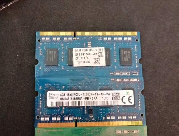 3 Memoria ram DDR 4gb Exelente oportunidad