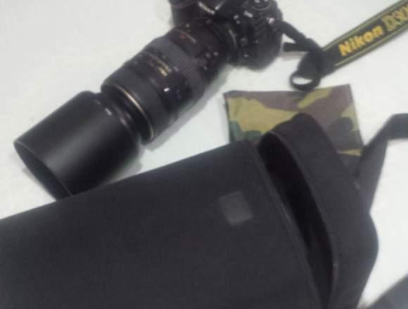 Camara D300 + Teleobjetivo Nikon 80/400