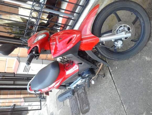 Moto Kymco Uni-K Auteco Roja