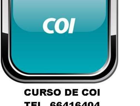 CURSO DE COI BASICO..!!