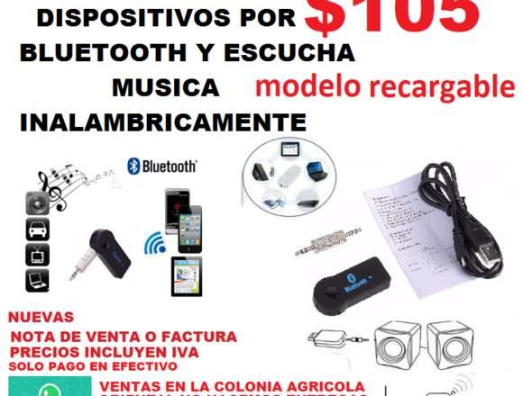 RECEPTOR USB DE AUDIO BLUETOOTH MODELO RECARGABLE