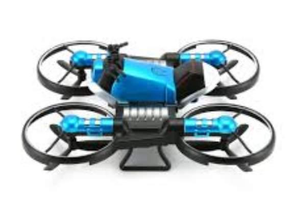 DRONE MOTO 2 EN 1 RC