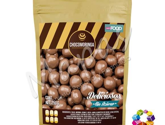 Pasas con Chocolate enriquecidas con Moringa