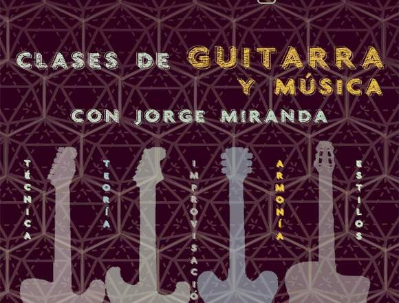 Clases de guitarra, armonía, improvisación y más.