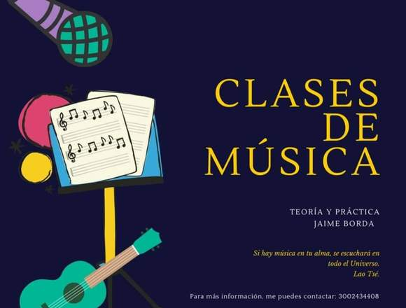 Clases de música Teórica y práctica a domicilio