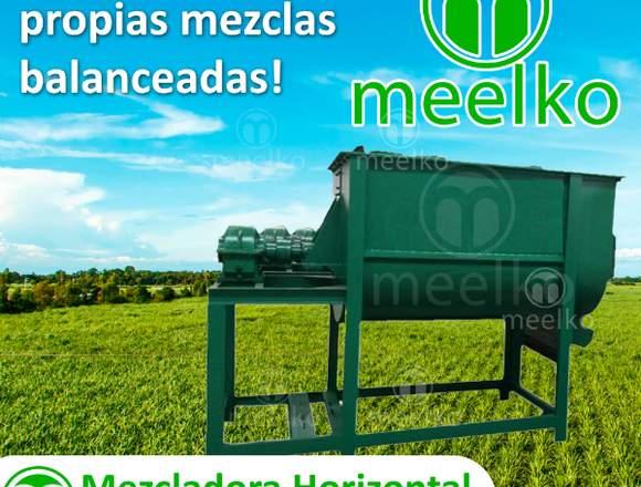 mezcladoras horizontales- tipo tina de Meelko