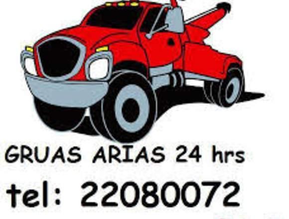 GRUAS ARIAS 24 HORAS PARA CUALQUIER TIPO DE AUTO