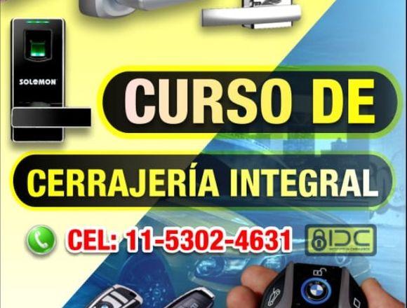 CURSOS DE CERRAJERÍA DE HOGAR Y AUTOMOTOR