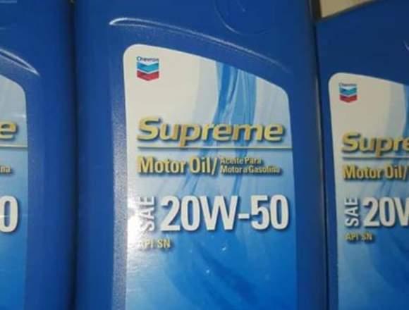 Aceite de Motor 20w50, Marca Chevrom
