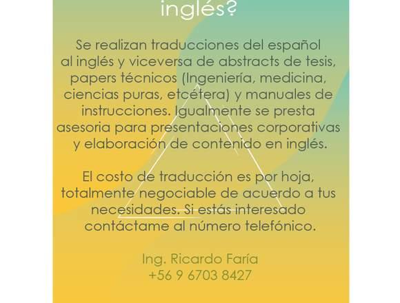 Servicio de traducción (Inglés-español)