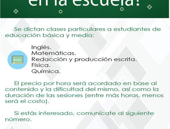 Clases particulares (Matemáticas-Inglés-Química)