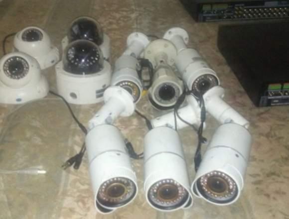 vendo lote de camara de vigilancia y DVR