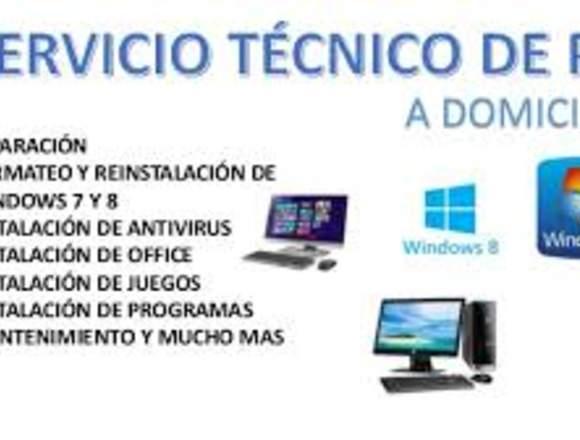 Servicio Técnico de Computadoras, Laptop domicilio