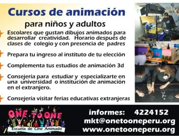 Clases ANIMACIÓN  2d, animación artística, clásica