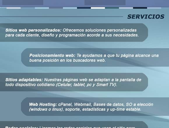 Diseño de páginas web y Marketing Online