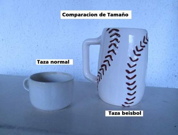 Taza Tipo Mug Porcelan Con Tema De Pelota Beisbol
