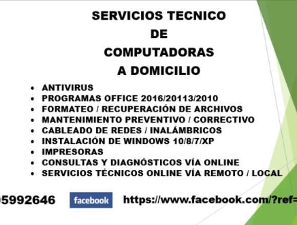 SERVICIOS DE COMPUTADORAS A DOMICILIO