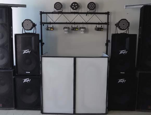 Servicio de dj con audio profesional e iluminacion