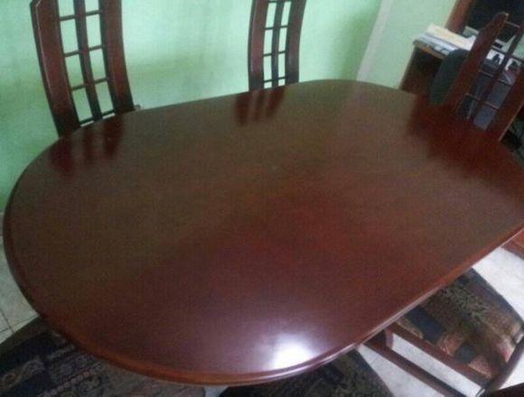 Comedor de Madera de 6 sillas