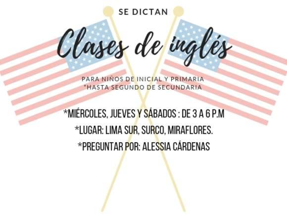 Clases de Inglés particulares.