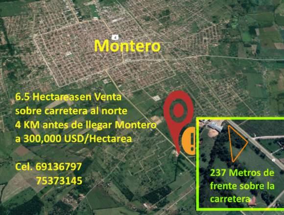 Vendo 6.5 Hectáreas en Montero