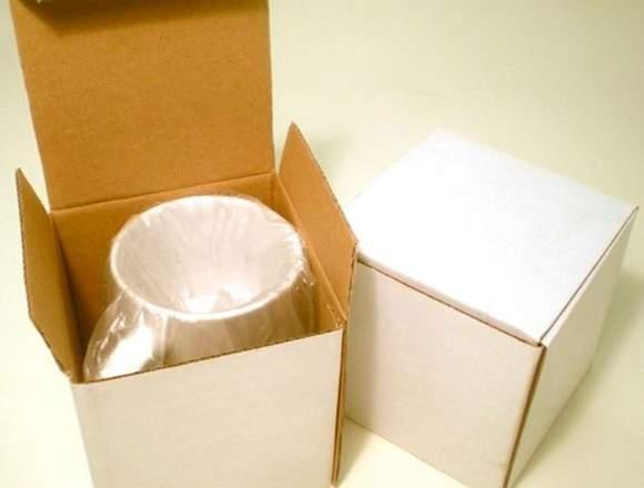 Taza polímero con cajita  personalizada
