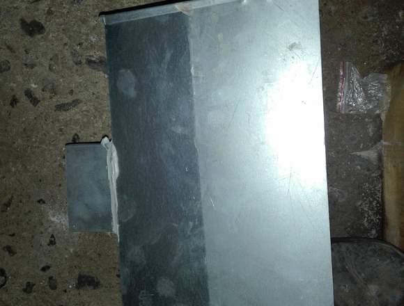 4 bajadas de agua acero inoxidables