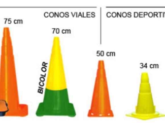 CONOS VALLAS Y PLATOS