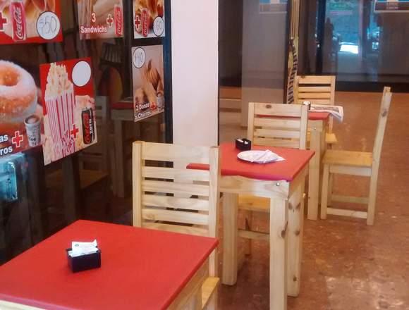 cafeteria pleno barrio de Flores