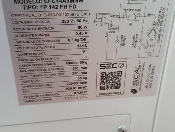 Conservadora de Alimentos Electrolux 140Lt