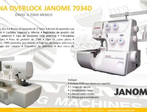 Máquina de coser overlock janome