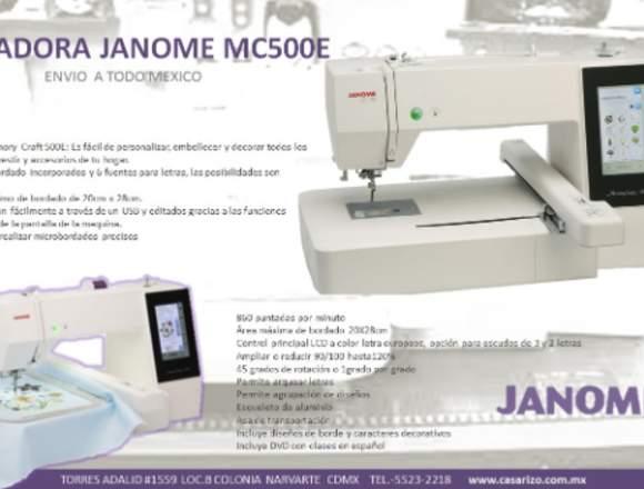 Maquina bordadora janome mc500e