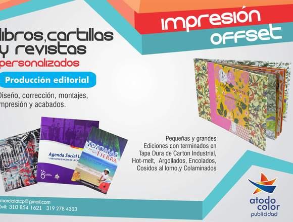 Diseño e impresión de libros, revistas y cartillas