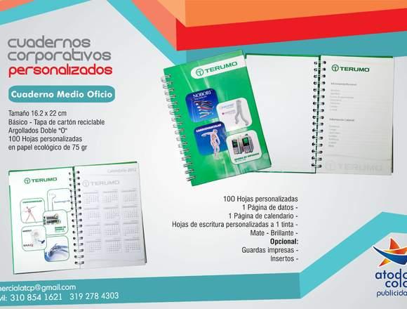 Cuadernos publicitarios personalizados