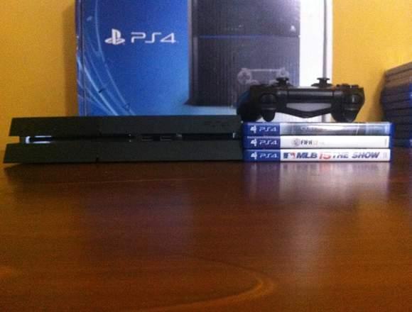 ps4 original + juegos + joystick