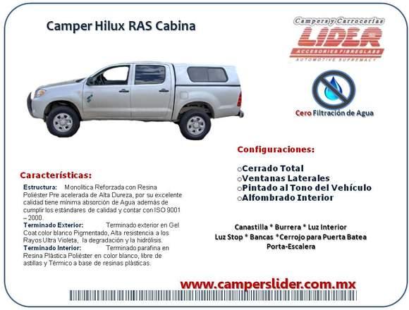CAMPERS, COVERS Y MAS EN LIDER SILAO