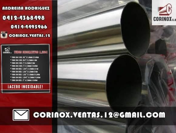 TUBOS DE ACERO INOXIDABLE 304