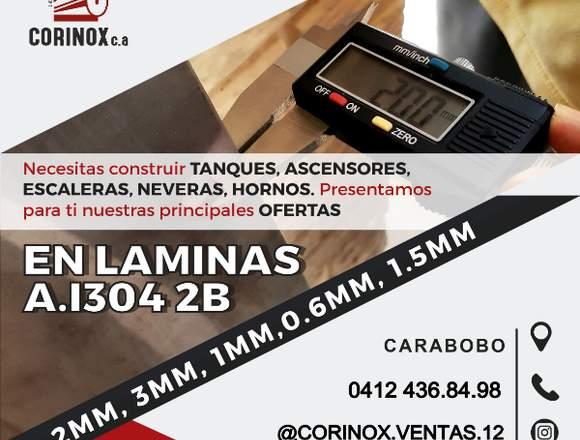 LAMINA DE ACERO INOXIDABLE 2B