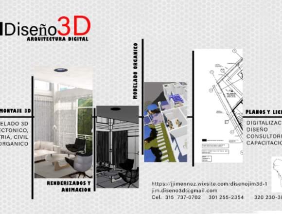 JIM Diseño 3D, DIGITALIZACION Y DISEÑO DE PLANOS