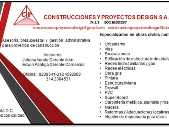 CONSTRUCCIONES Y PROYECTOS DESIGN S.A.S