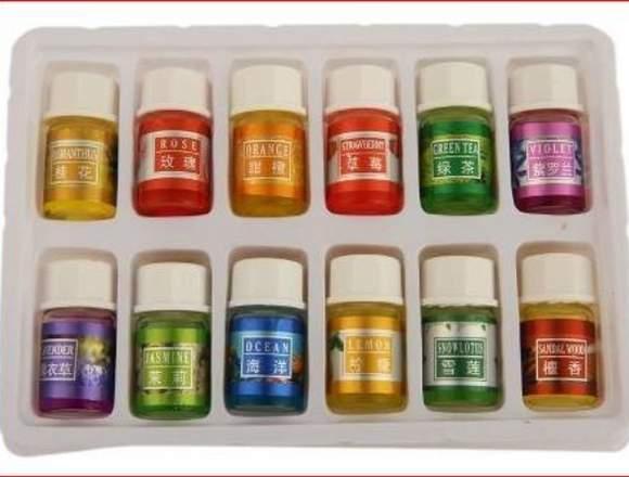 12 mini Esencias Aromáticas Humidificador Concentr
