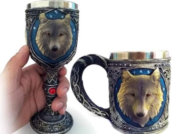 Taza + Copa Lobo Stark Game Of Thrones  Tazon Mug