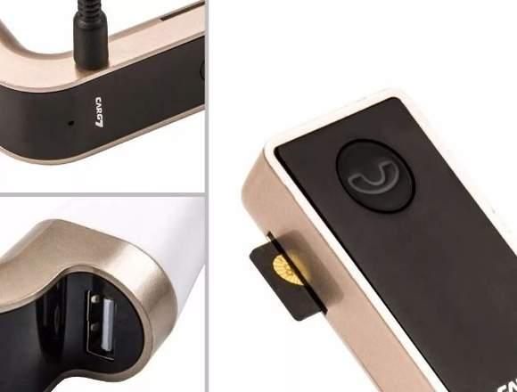 Transmisor Fm Con Bluetooth y Sd Para Auto