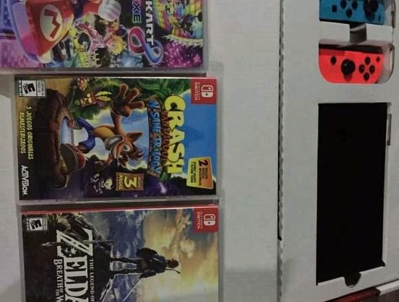 Nintendo switch con juegos