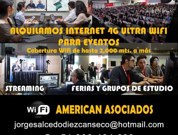 Alquiler de Internet 4G Ultra Wifi para Eventos