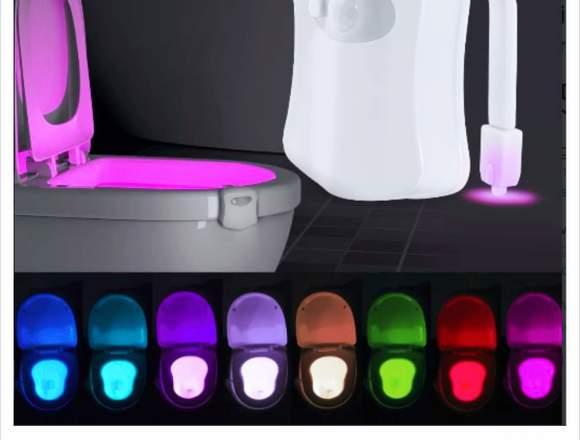 Luz Led Inodoro 8 Colores Rgb Baño
