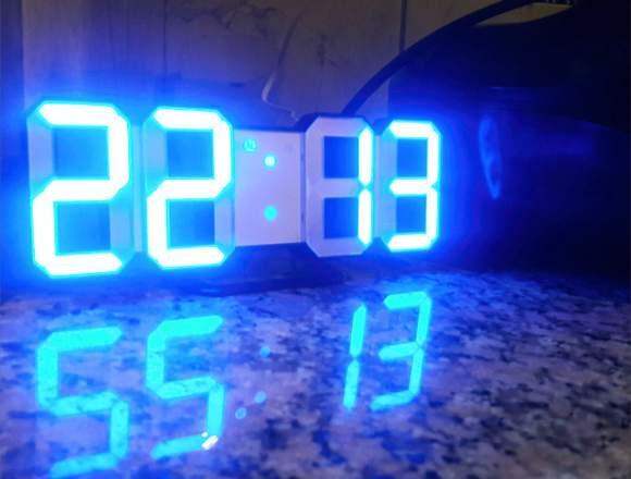 Reloj Digital Led (Despertador - Pared/Mesa)