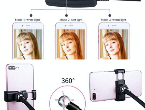 Soporte Teléfono Celular anillo de Luz